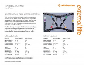 TAYLOR SPATIAL FRAME settings chart